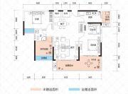 云鼎・天阙1室2厅2卫94--110平方米户型图