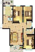 东方明珠3室2厅2卫136平方米户型图