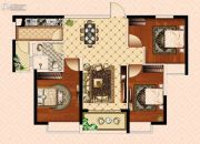 南昌恒大御景(原恒大帝景)3室2厅1卫104平方米户型图