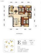 海赋长兴二期奥林阳光公园3室2厅1卫99平方米户型图