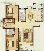 炜赋星湖邻里3室2厅1卫134平方米户型图