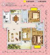 锦绣御珑湾3室2厅2卫121平方米户型图