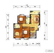 旺城天悦3室2厅2卫122平方米户型图