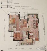 融汇半岛玫瑰公馆3室2厅2卫102平方米户型图
