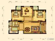 绿都御景蓝湾2室2厅1卫79平方米户型图