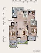 铂金汉城3室2厅2卫0平方米户型图