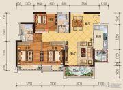 领地・海纳君庭3室2厅2卫88平方米户型图