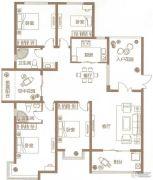 锦江城市花园4室2厅2卫170平方米户型图