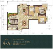 经典明苑3室2厅1卫119平方米户型图