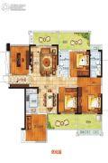 南海幸福汇3室2厅2卫110平方米户型图
