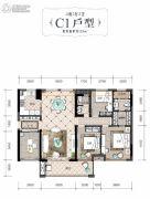 润田・利园4室2厅2卫125平方米户型图