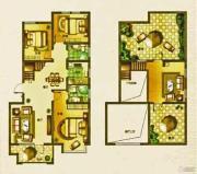 荣盛・锦绣外滩3室2厅2卫111平方米户型图