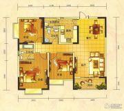 春天印象二期3室2厅2卫120平方米户型图