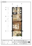 楠溪・云岚1室1厅1卫32平方米户型图