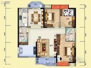 雅博世纪广场3室3厅2卫122平方米户型图