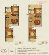 华庭常青墅2室2厅1卫89平方米户型图