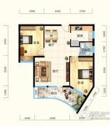 怡景江南2室2厅1卫85平方米户型图