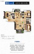 龙跃・活力城3室2厅2卫116平方米户型图