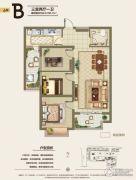 旭洋・城市风景3室2厅1卫96平方米户型图