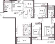 堰湾长堤3室2厅2卫115平方米户型图