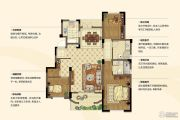金浦翡翠谷3室2厅2卫119平方米户型图