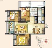 北部万科城3室2厅1卫83平方米户型图