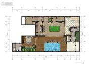 中交绿城高福小镇1室1厅1卫240平方米户型图