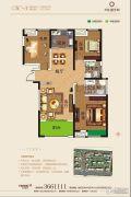奕铭・阳光城3室2厅2卫121平方米户型图