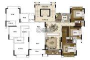 雅居乐山海郡3室2厅2卫137平方米户型图
