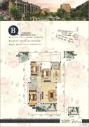 泰合蓝湾香郡3室2厅2卫117平方米户型图