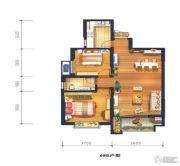 宫园美岸2室2厅1卫88平方米户型图