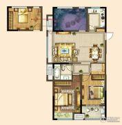 港龙新港城2室2厅1卫110平方米户型图