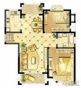诚河新旅城2室2厅1卫101平方米户型图