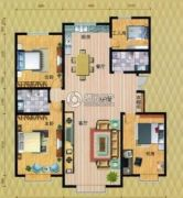 鸿�浴ず托承鲁�4室2厅2卫160--170平方米户型图