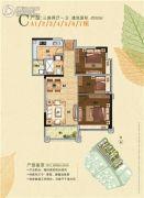 中泰天境花园3室2厅1卫90平方米户型图