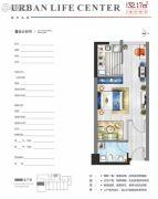 中铁立丰城市生活广场1室1厅1卫32平方米户型图