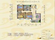 银海富都2室2厅1卫78平方米户型图