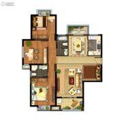光明领御3室2厅2卫132--135平方米户型图
