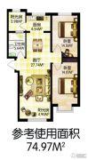 福顺尚景2室2厅1卫0平方米户型图