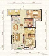 钓鱼台二期3室2厅2卫103平方米户型图