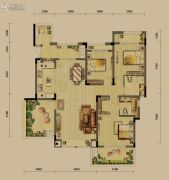 龙湖源著3室2厅2卫106平方米户型图