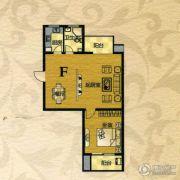 芙蓉山庄1室2厅1卫87平方米户型图