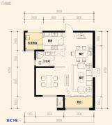 保利天禧3室2厅2卫129平方米户型图