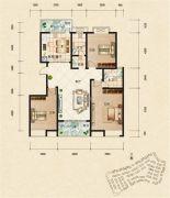 富杰・水岸家园3室2厅2卫132平方米户型图