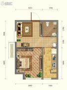韩建青春�I1室1厅1卫39平方米户型图