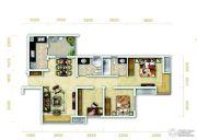 万科金润华府3室2厅2卫92平方米户型图