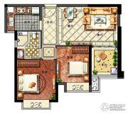 华强城2室2厅1卫73--75平方米户型图