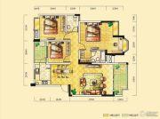 远达天际上城3室2厅2卫118平方米户型图
