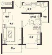 恒大名都1室1厅1卫61平方米户型图