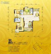 锦绣银湾3室2厅2卫110--127平方米户型图